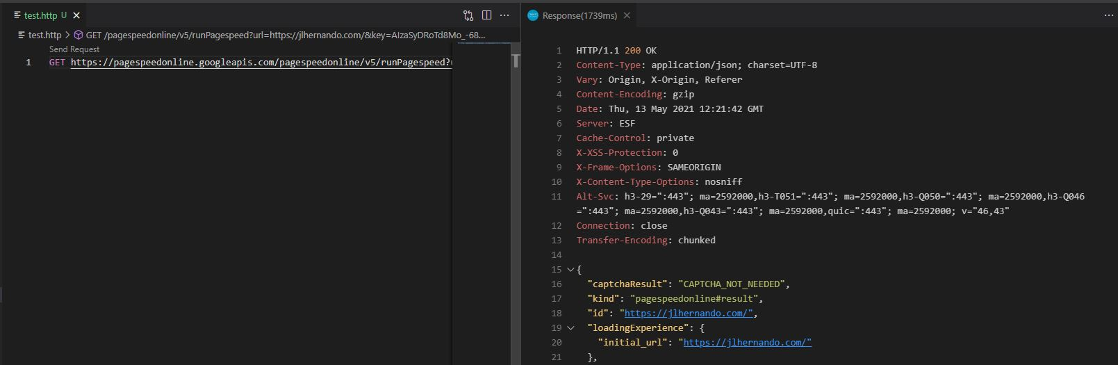rest client vscode extension example